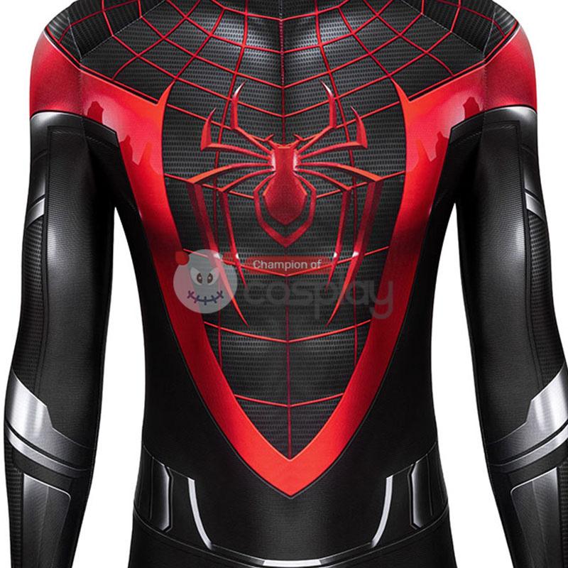 Spider Man Cosplay Costume Spiderman Miles Morales Jumpsuit Top Level