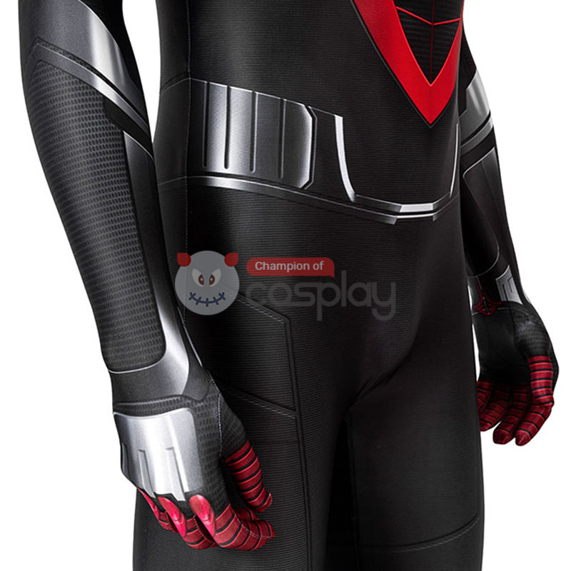 Spider Man Cosplay Costume Spiderman Miles Morales Jumpsuit Top Level