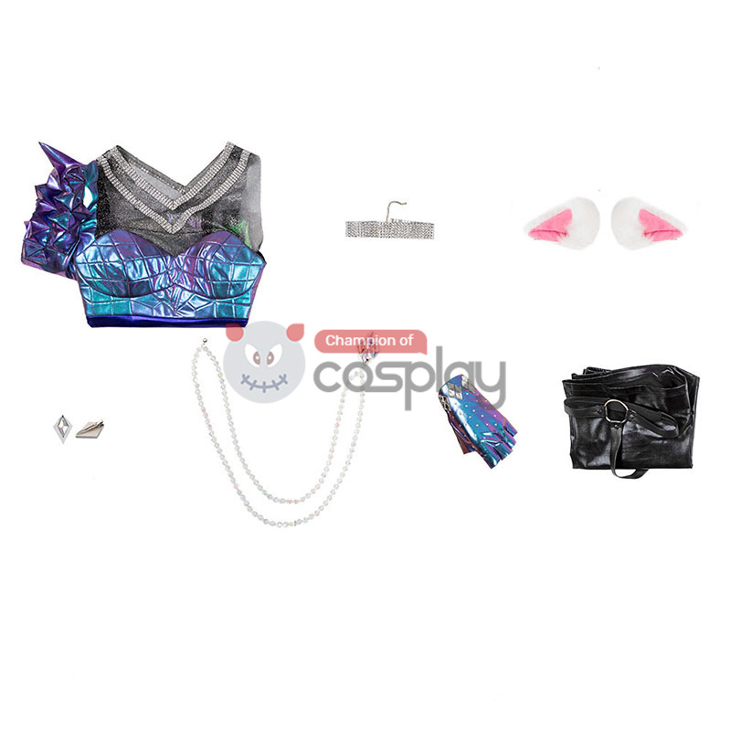 League Of Legends 2020 LOL KDA All Out Ahri Cosplay Costume