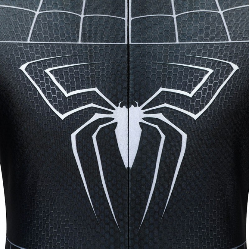 Spiderman 3 Eddie Brock Cosplay Costume Venom Jumpsuit for Kids