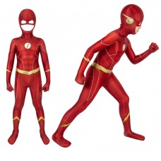 Ready To Ship for Kids The Flash Costume Barry Allen Cosplay Suit
