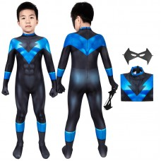 Kids Batman Under The Red Hood Nightwing Cosplay Suit Richard Grayson Costume