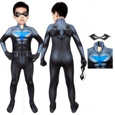 Son Of Batman Cosplay Costume Nightwing Jumpsuit for Kids