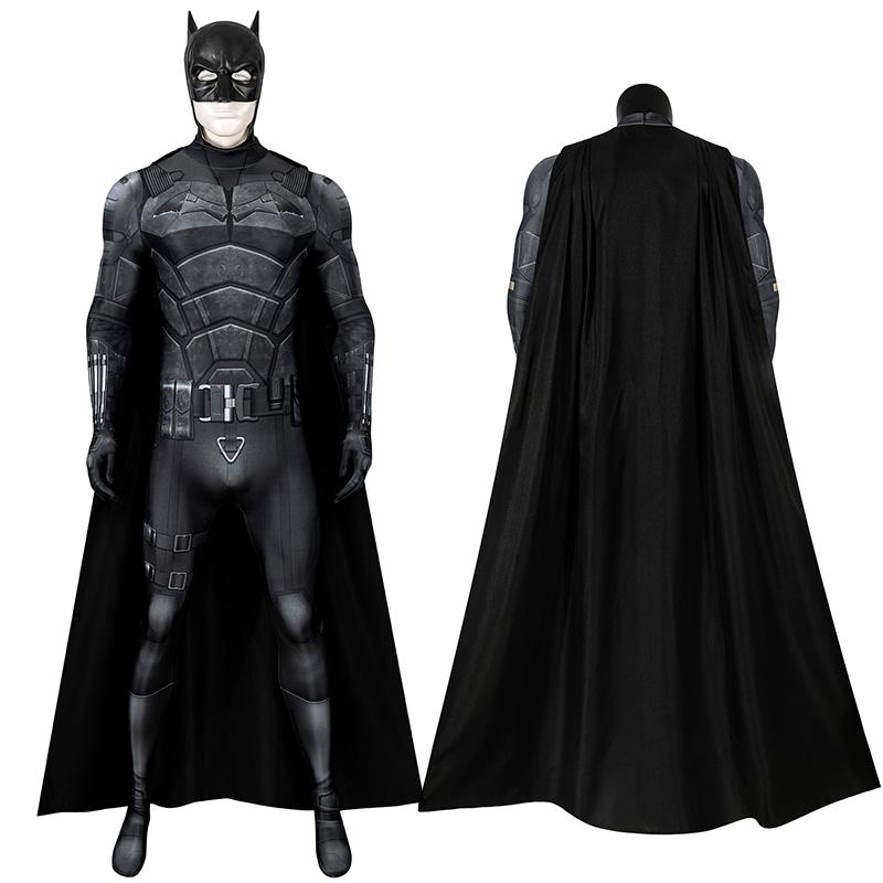 The Batman 2021 Movie Jumpsuit Bruce Wayne Robert Pattinson Cosplay Costume