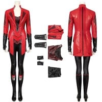 New Captain America 3 Civil War Scarlet Witch Wanda Maximoff Cosplay Costume