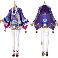 Genshin Impact Cosplay Suit Qiqi Costume Top Level