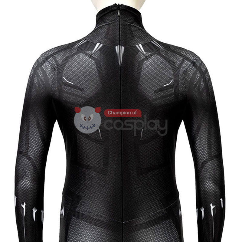 Black Panther Cosplay Costume T'Challa Jumpsuit for Kids