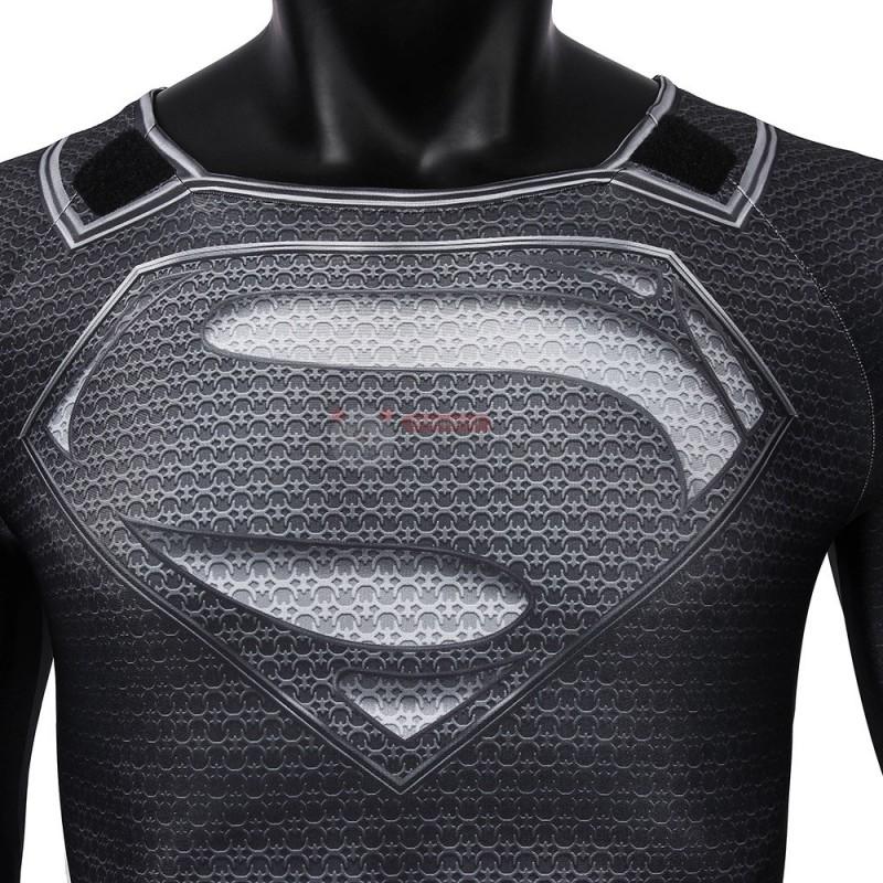 Black Superman Costume Justice League Clark Kent Cosplay Suit