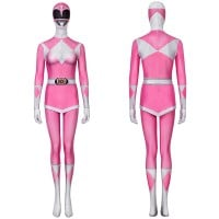 Pink Ranger Costume Mighty Morphin Power Rangers Cosplay Suit