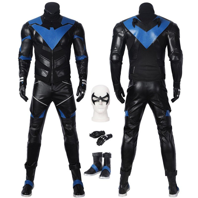 Nightwing Costume Batman Gotham Knights Cosplay Suit