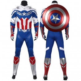 2021 Captain America Sam Wilson Costume New The Falcon and the Winter Soldier Cosplay Suit