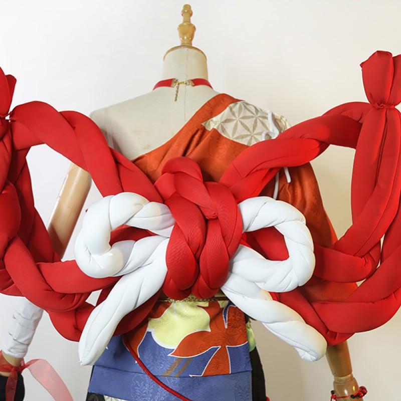 Genshin Impact Yoimiya Cosplay Costume Deluxe Version Full Set