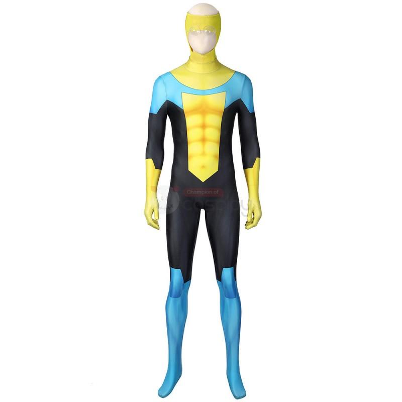 Invincible Mark Grayson Suit Zentai Halloween Cosplay Costume