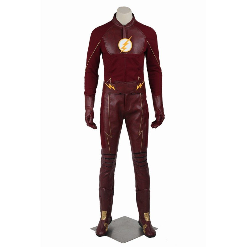 Barry Allen Cosplay Suit The Flash Season 2 Cosplay Costumes