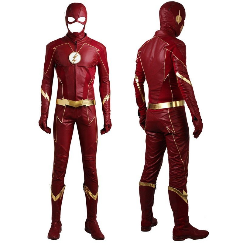 DC The Flash Season 4 Barry Allen Cosplay Costume Improved Version