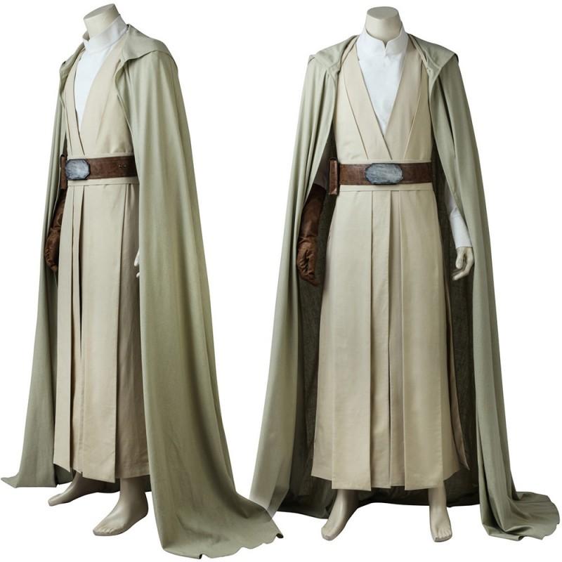 Star Wars 8 The Last Jedi Costumes Luke Skywalker Cosplay Costume