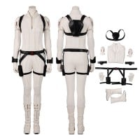 Black Widow White Costumes Natasha Romanoff Cosplay Costumes