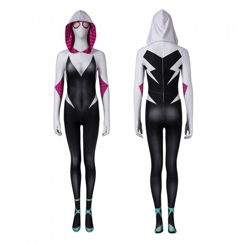 Spider-Gwen Costumes Spider-Man Into The Spider-Verse Cosplay Costumes