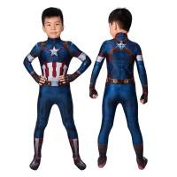 Kids Captain America  Costume Avengers: Age Of Ultron Steven Rogers Cosplay Costume