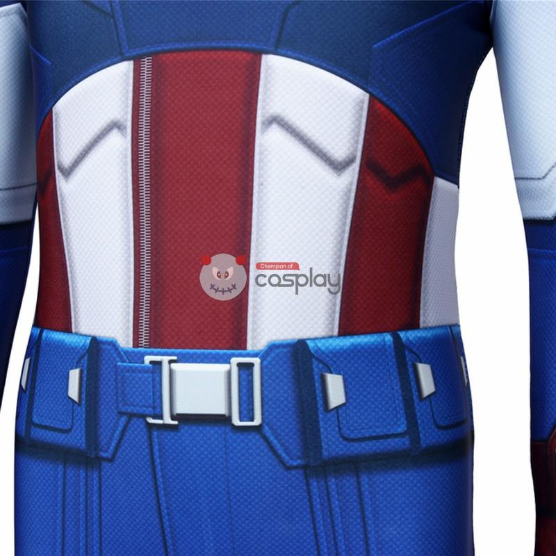 Kids Captain America Costume Avengers 1 Steve Rogers Cosplay Costume