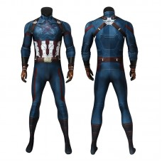 Captain America Costume Avengers 3 Infinity War Steve Rogers Jumpsuit Cosplay Costumes