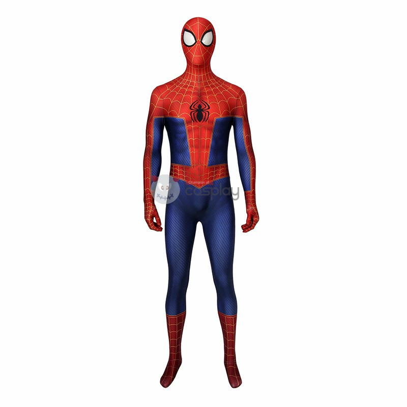 Peter Parker Costumes Spider-Man Into The Spider-Verse Cosplay Costumes